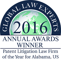 Global Law Experts Select Starnes Davis Florie as Patent Litigation Law Firm of the Year in Alabama – 2016